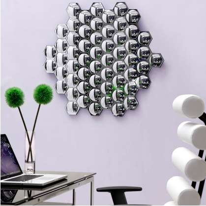 Reflective Honeycomb Decor