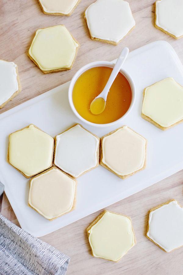 Hexagonal Honeycomb Cookies