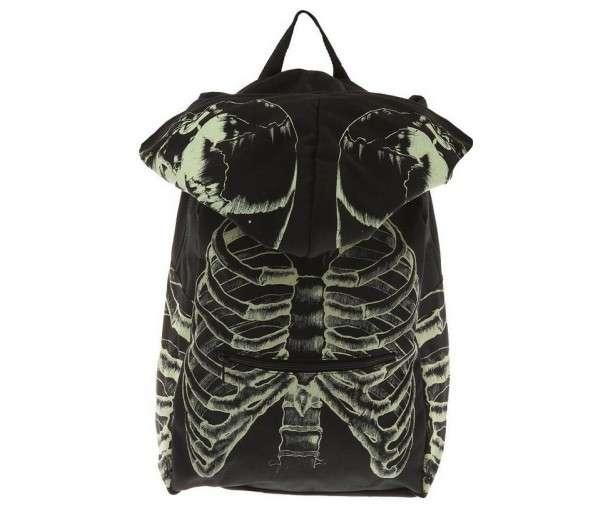Glowing Hooded Skeleton Backpacks
