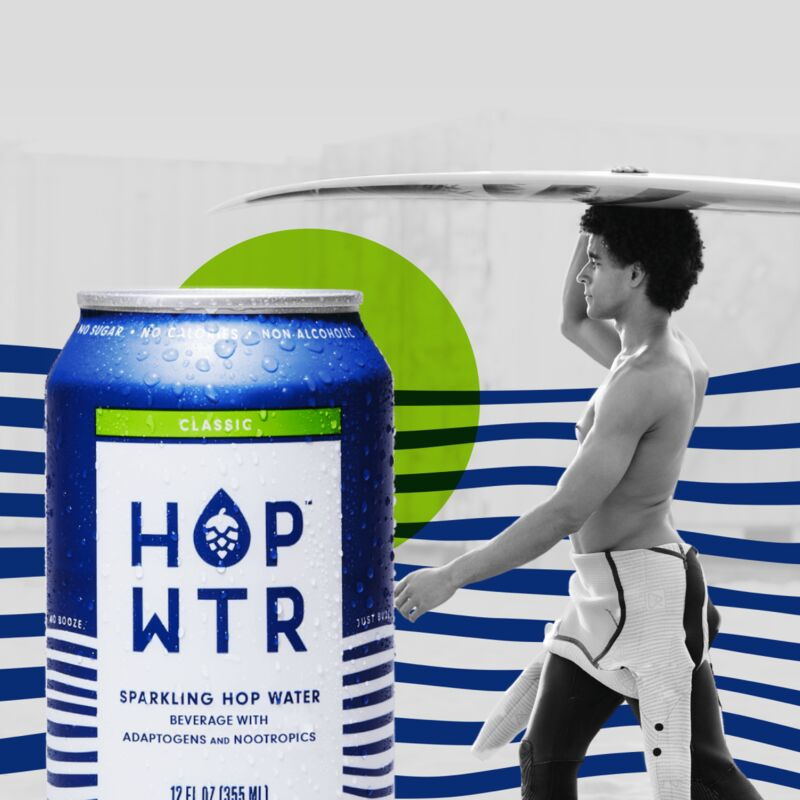 Non-Alcoholic Nootropic Hop Waters