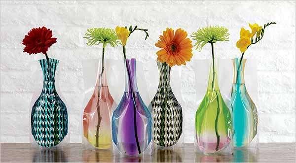 Folding Vinyl Vases