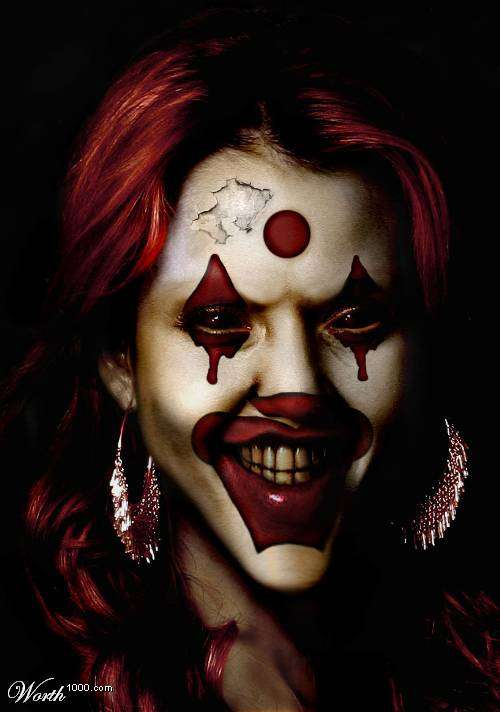 Evil Celebrity Clowns: Famous Faces Digitally Repainted at ...