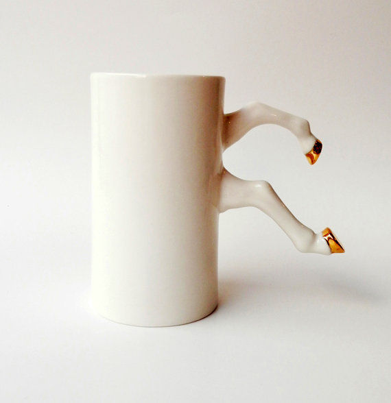 Hooved Coffee Cup Handles