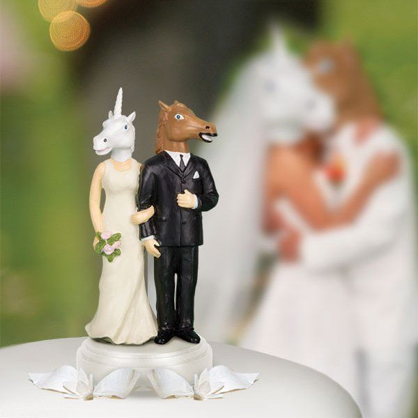 Unconventional Unicorn Cake Toppers