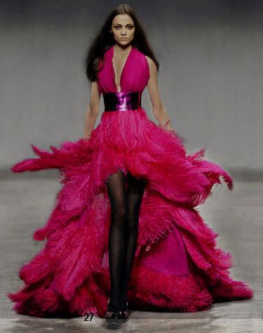 Black and Fuschia Dresses