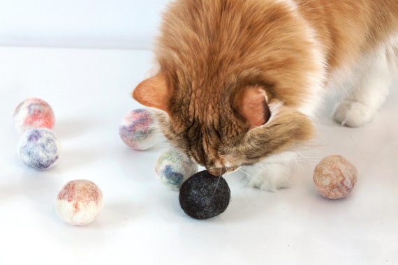 Hand-Felted Cat Toys