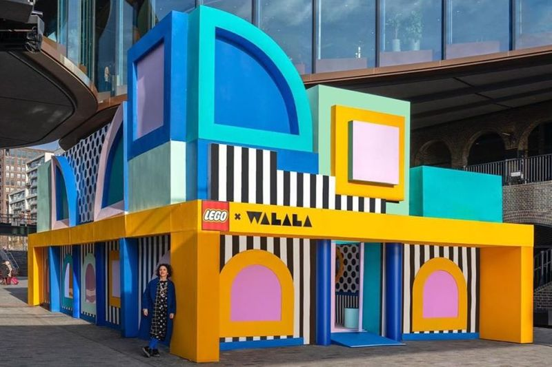 Life-Size Building Block Houses