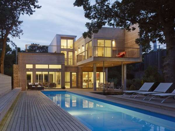Jenga Inspired Beach Homes House On Fire Island By