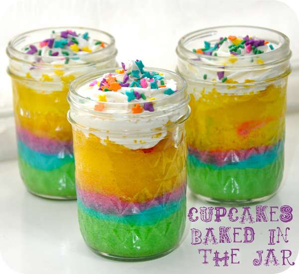 DIY Retro Cupcake Jars