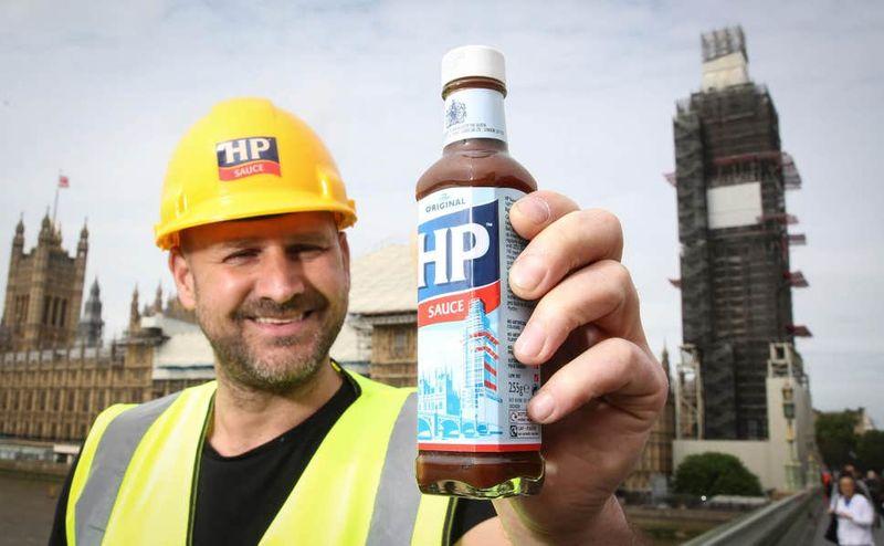 Construction-Depicting Condiment Bottles
