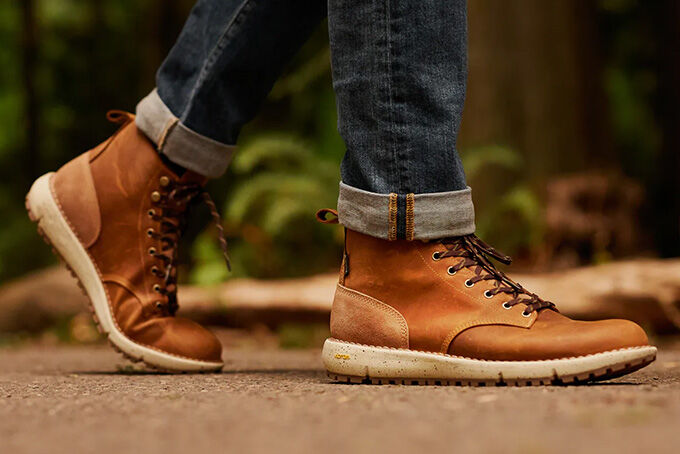 Gold-Tinted Hiking Boots