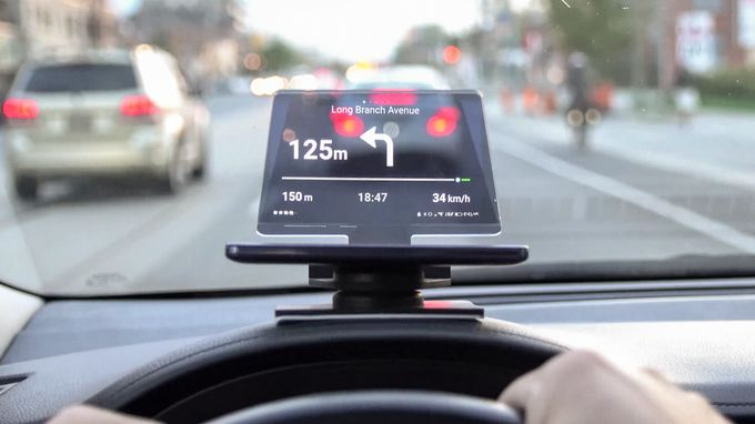Transparent Dashboard Displays