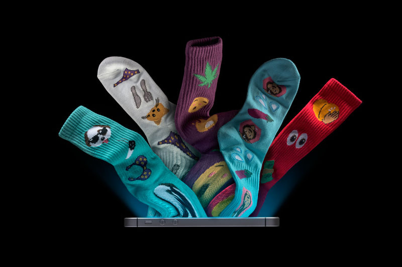 Suggestive Emoji Socks