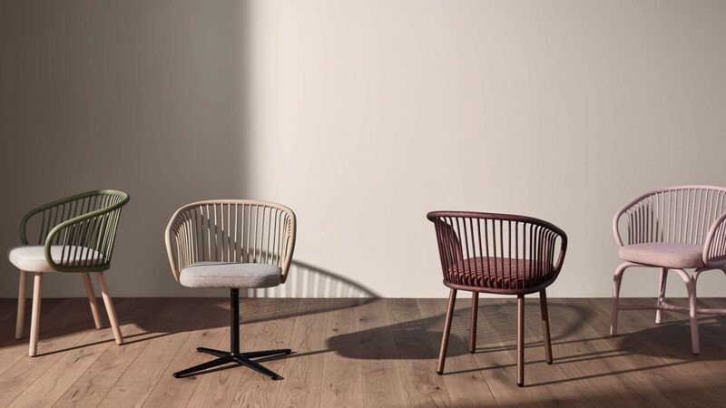 Elevated Curved-Shell Armchairs