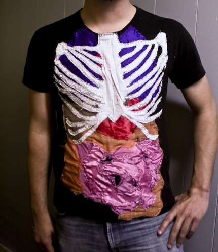 Human Anatomy T Shirts Patchwork Sewing Makes For Creative Clothing