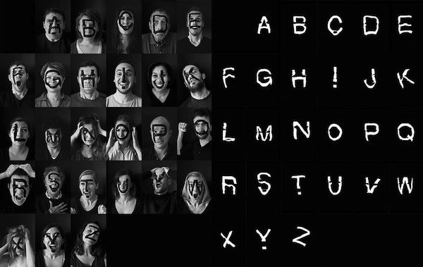 Emotional Font Photography