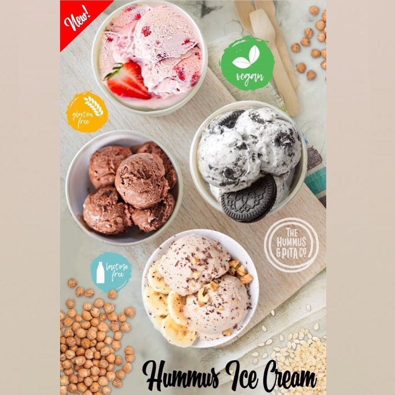 Natural Hummus Ice Creams