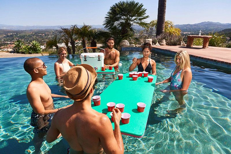 Floating Beer Pong Tables