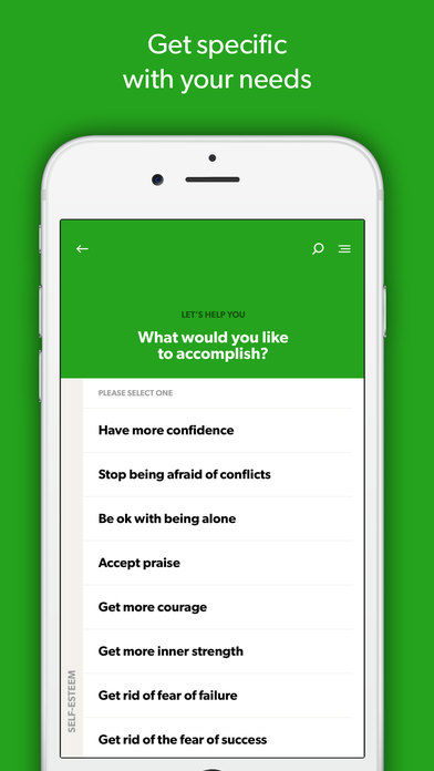 Self-Improvement Hypnotherapy Apps : hypnosis app
