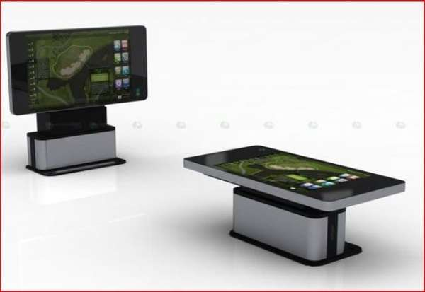 massive touchscreen tables hyundai 70 table monitor