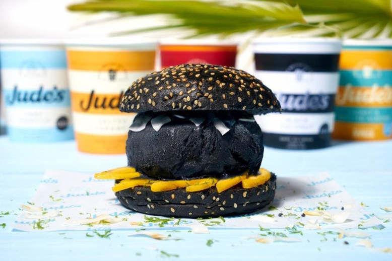 Blackened Ice Cream Burgers