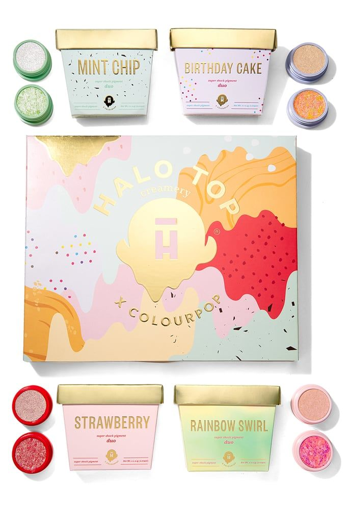 Ice Cream-Inspired Eyeshadows - Halo Top & ColourPop Collaborated on an Ice Cream Makeup Collection (TrendHunter.com)