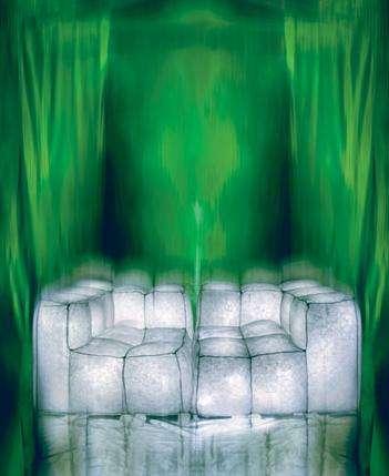Glowing Ice Cube Furniture