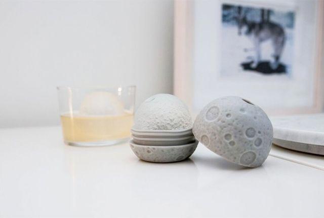 Spherical Lunar Ice Cubes