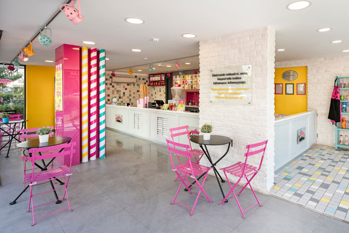 Whimsical Creamery Parlours Ice Cream Shop