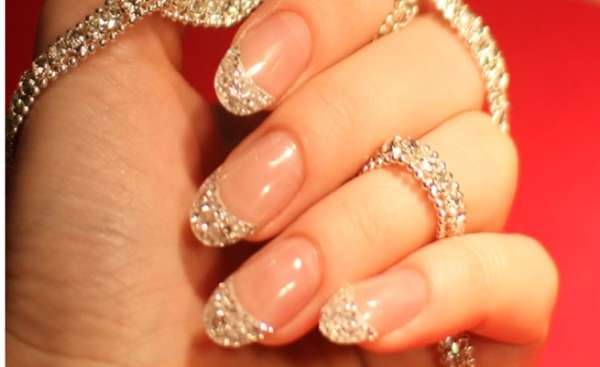 Diamond-Studded Nails