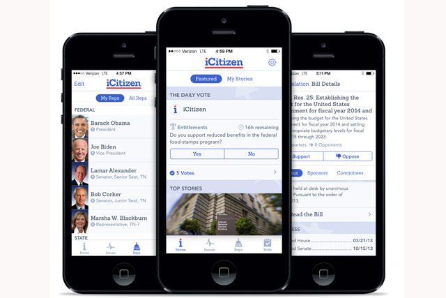 Streamlined Political Apps