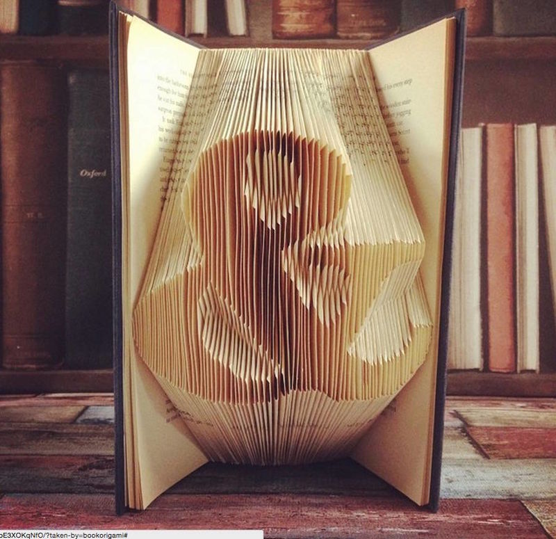 Origami-Inspired Book Sculptures