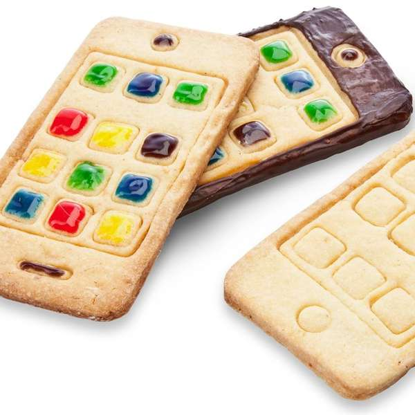 Replica Smartphone Cookie Cutters