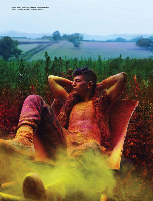 Colorfully Paint-Doused Editorials