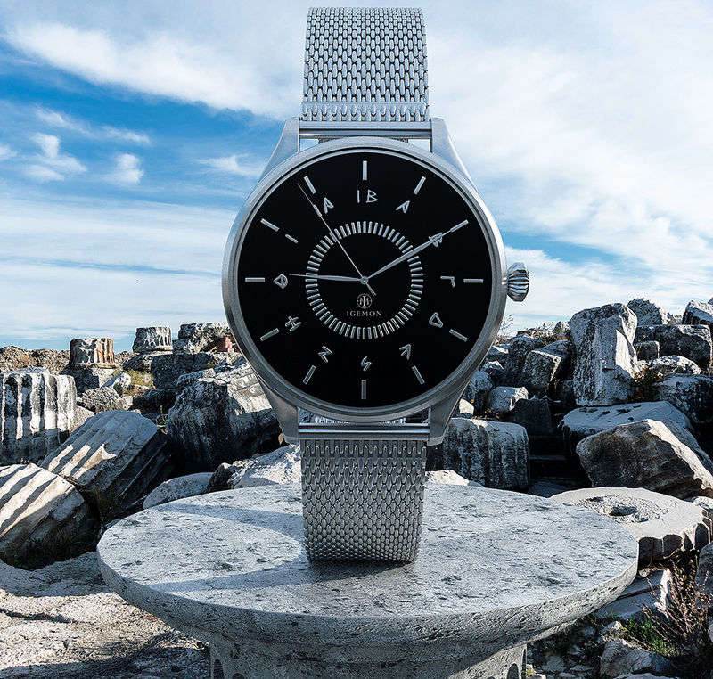 Ancient Greece-Honoring Timepieces - The Igemon Watches Draw Inspiration from Greek Design (TrendHunter.com)