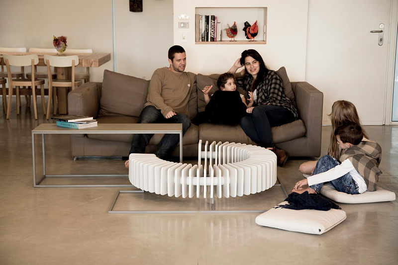 Campfire-Inspired Coffee Tables