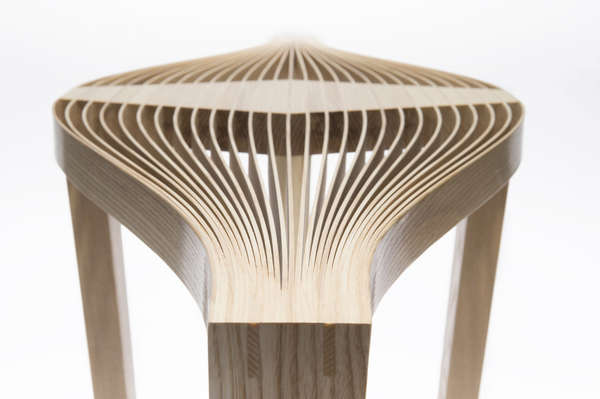 Leaf-Like Wooden Furniture