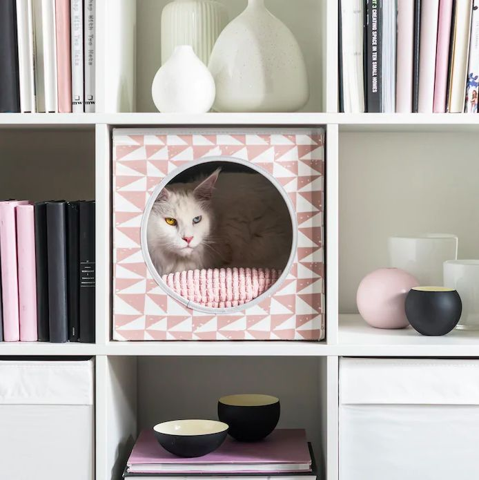 Space-Saving Cat Houses