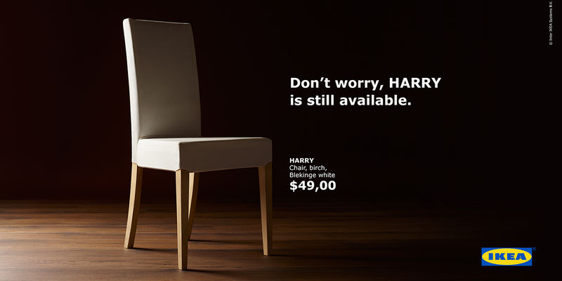 Royal-Referencing Chair Ads