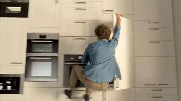 Wall-Climbing Furniture Adverts