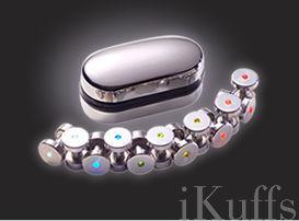 iKuffs Stainless Steel Cufflinks with Neon Lights