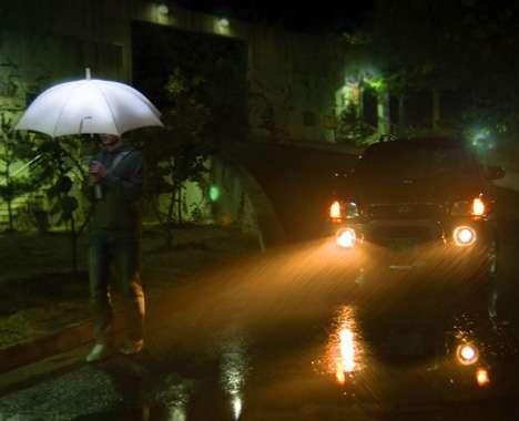 Illuminated LED Umbrellas