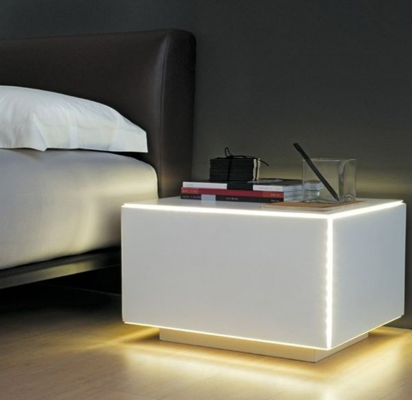 Marvelous Illuminated Bedside Tables
