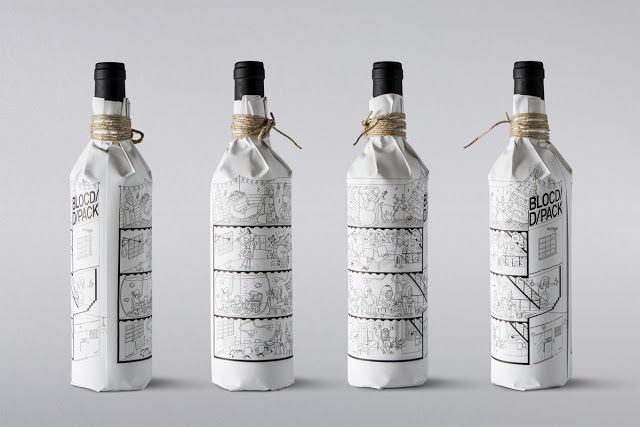 Illustrated Wine Bottle Wraps
