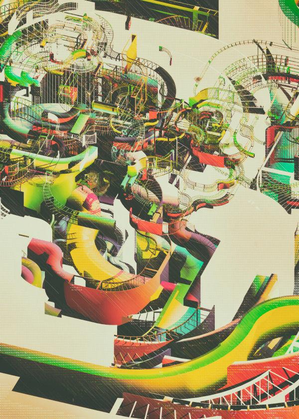 Hypnotic Roller Coaster Illustrations