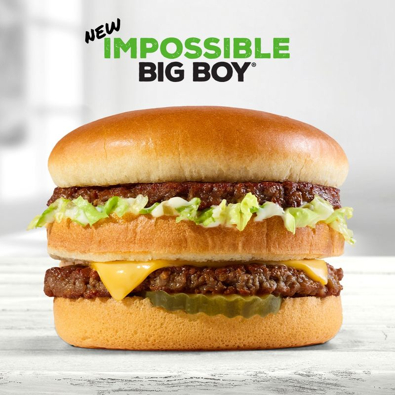 Double-Decker Plant-Based Burgers