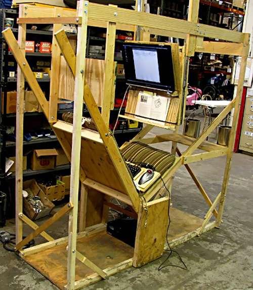 wacky wood environments impractical computer chair