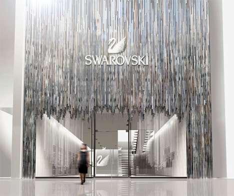 Glimmering Architecture The Swarovski Store In Japan