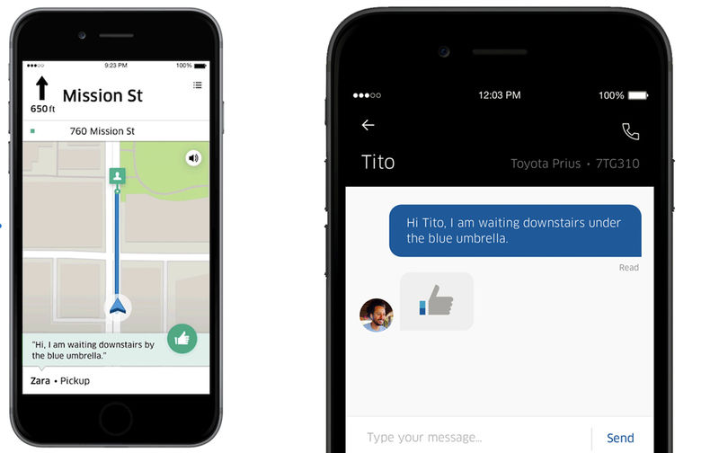 In-App Ride Share Chats