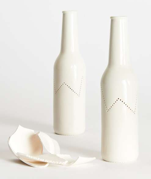 Jaggedly Perforated Bottles